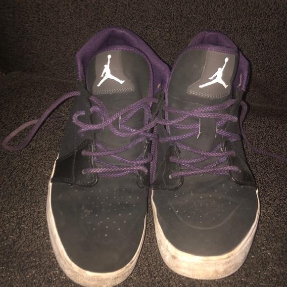 9866f203859 Jordan Shoes | Black And Purple S | Poshmark